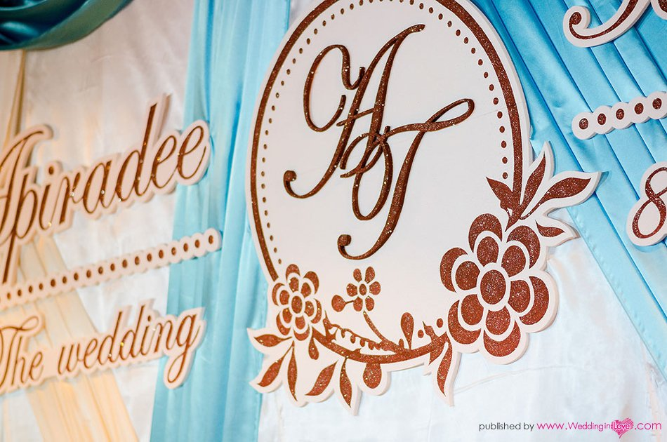 Wedding logo and Backdrop