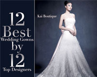 12  Best  Wedding Gowns by 12 Top Designers